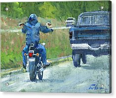 Road Warrior - Cruising Acrylic Print by Ron Wilson