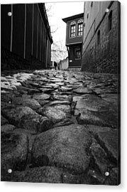 Roads Acrylic Print by Lucy D