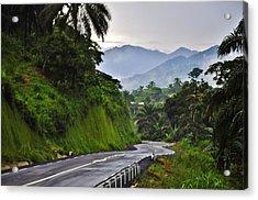 Roads Acrylic Print by Manu G
