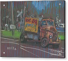 Acrylic Print featuring the painting Roadside Advertising by Donald Maier