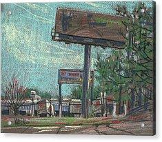 Roadside Billboards Acrylic Print by Donald Maier