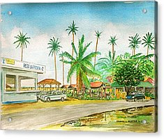 Roadside Food Stands Puerto Rico Acrylic Print
