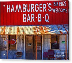 Roadside Hamburger Joint 20130309 Acrylic Print by Wingsdomain Art and Photography