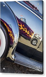 Roadster Reflection- Metal And Speed Acrylic Print