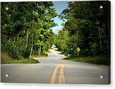 Roadway Slalom Acrylic Print
