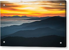 Acrylic Print featuring the photograph Roan Mountain Sunrise by Serge Skiba