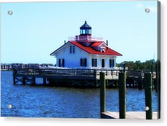 Acrylic Print featuring the photograph Roanoke Marshes Light 4 by Cathy Lindsey