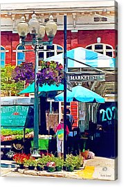 Roanoke Va - Market Street Acrylic Print by Susan Savad