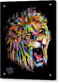 Acrylic Print featuring the digital art Roar by Anthony Mwangi