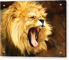 Roaring Lion Acrylic Print