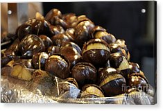 Acrylic Print featuring the photograph Roasted Chestnuts by Lilliana Mendez