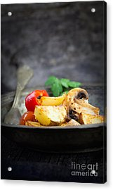 Roasted Vegetables Acrylic Print by Mythja  Photography