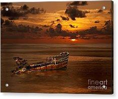 Roatan Shipwreck Acrylic Print