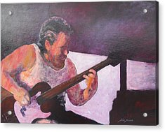 Acrylic Print featuring the painting Rob by John  Svenson