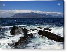 Robben Island View Acrylic Print by Aidan Moran