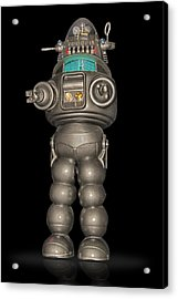 Robby The Robot Acrylic Print by Gary Warnimont