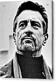 Robert De Niro Portrait Acrylic Print