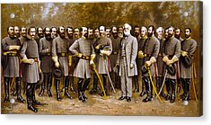 Robert E. Lee And His Generals Acrylic Print