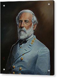 Robert E. Lee Acrylic Print by Glenn Beasley