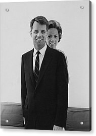 Robert F Kennedy And Wife Ethel Acrylic Print by Cecil Beaton