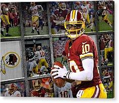 Robert Griffin Rg3 Washington Redskins Acrylic Print by Joe Hamilton