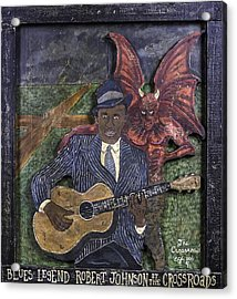Acrylic Print featuring the painting Robert Johnson At The Crossroads by Eric Cunningham