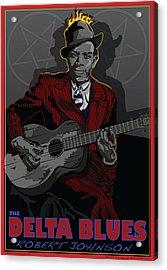 Robert Johnson Delta Blues Acrylic Print by Larry Butterworth