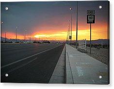 Robert Melvin - Fine Art Photography - Highway 160 At Dawn Acrylic Print