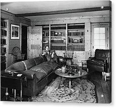 Robert Montgomery In His Living Room Acrylic Print