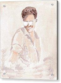 Robert Pattinson 182 Acrylic Print by Audrey Pollitt