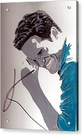 Robert Pattinson 48a Acrylic Print by Audrey Pollitt