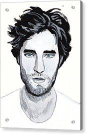 Robert Pattinson 88 Acrylic Print by Audrey Pollitt