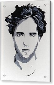 Robert Pattinson 89 Acrylic Print by Audrey Pollitt