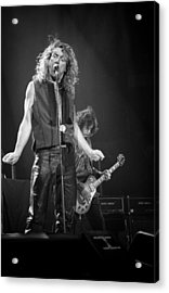 Robert Plant And Jimmy Page Acrylic Print by Timothy Bischoff