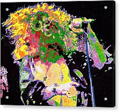 Robert Plant Acrylic Print by Barry Novis
