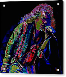 Robert Plant Acrylic Print by  Fli Art