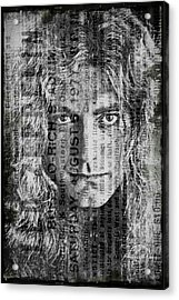 Robert Plant - Led Zeppelin Acrylic Print by Absinthe Art By Michelle LeAnn Scott