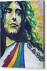 Robert Plant.. Led Zeppelin Acrylic Print by Chrisann Ellis