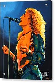 Robert Plant Acrylic Print by Paul Meijering