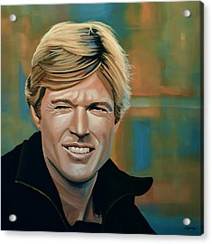 Robert Redford Acrylic Print by Paul Meijering