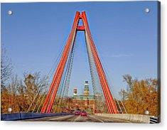 Robert Stewart Bridge - Columbus Indiana Acrylic Print