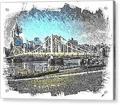 Roberto Clemente Bridge Acrylic Print by Spencer McKain