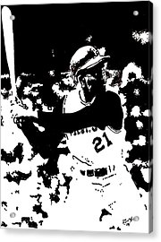 Roberto Clemente Drawing Acrylic Print by Rob Monte