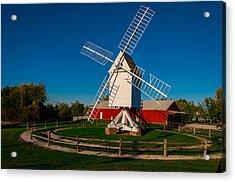 Robertson Post Mill Acrylic Print by Gene Sherrill