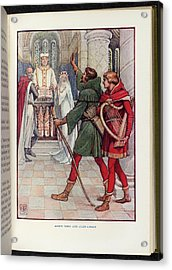 Robin Hood And Alan-a-dale Acrylic Print by British Library
