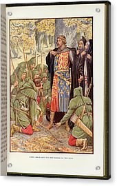 Robin Hood Before Richard I Acrylic Print by British Library