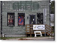 Robin's Nest Store In Autumn Michigan Usa Acrylic Print by Sally Rockefeller