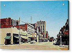 Robins Theatre In Niles Oh In The 1950's Acrylic Print by Dwight Goss