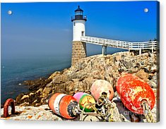 Robinson Point Lighthouse Acrylic Print by Adam Jewell