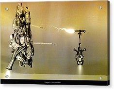 Robot Wars Acrylic Print by Kim Gauge